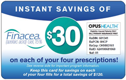 Learn How People Are Paying A Set Price Of $50 A Month For Finacea Through Prescription Hope!